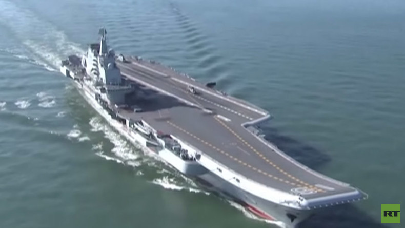 Chinese aircraft carrier conducts naval drills amid regional tensions (VIDEOS)