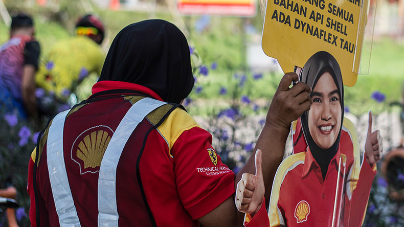 Shell recalls cardboard cutouts of female employee after groping pics emerge (PHOTOS)