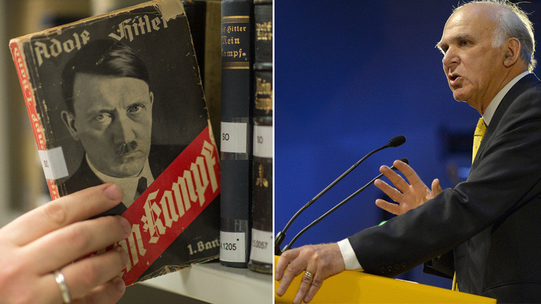 Theresa May's speech could have been from Hitler's 'Mein Kampf' – senior Lib Dem