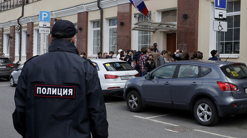 Police search office of opposition figure Navalny in Moscow
