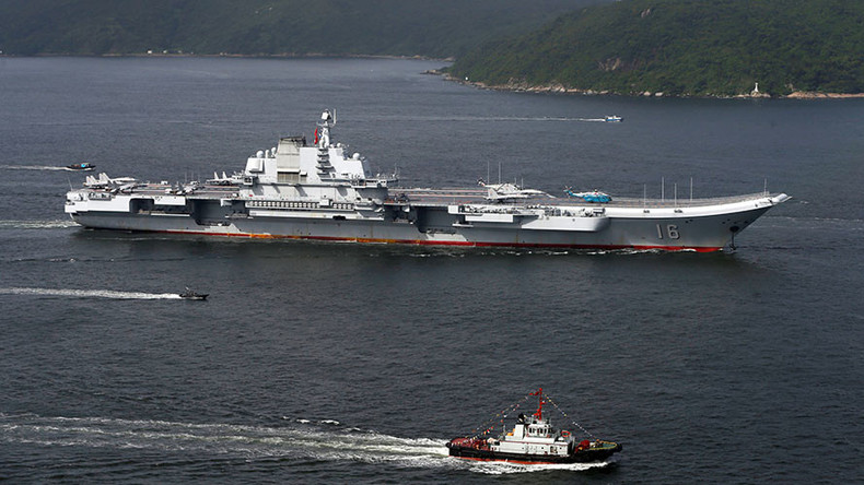China's naval battle group visits Hong Kong led by aircraft carrier Liaoning