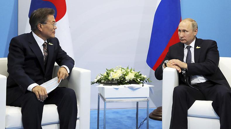 'Must keep cool heads': Putin & S. Korea's Moon discuss Pyongyang at G20