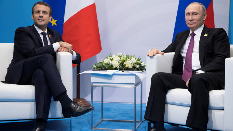 'I hope the climate will be better now': Putin pokes fun at Macron for being late