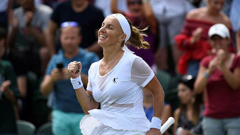 Kuznetsova reaches Wimbledon quarterfinals for 1st time in 10 years
