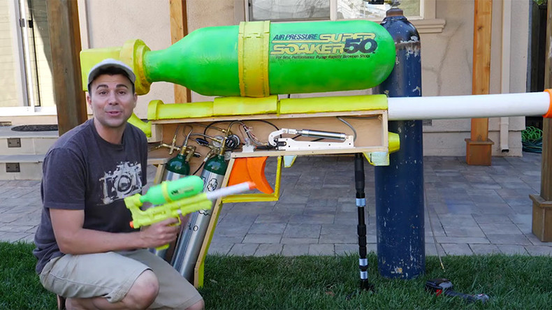 Window-shattering giant super soaker invented by ex-NASA engineer (VIDEOS)