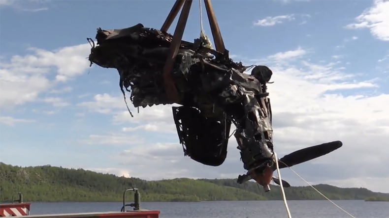 Crashed US WWII fighter plane recovered from polar lake after 72 years