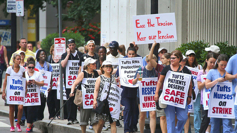 'None of us wanted this': Boston nurses go on strike for higher pay & more staff