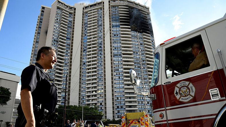 At least 3 dead as 5-alarm fire traps people in Honolulu high-rise