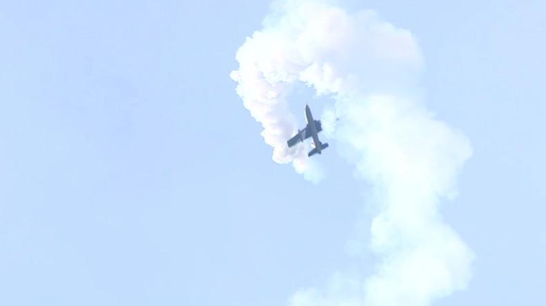 Death defying stunts & a heart in the sky at last rehearsal ahead of MAKS-2017 (PHOTOS, VIDEO)