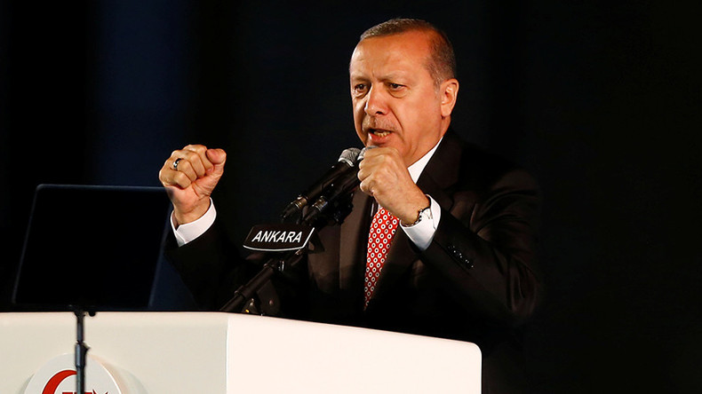 Erdogan vows to 'chop off heads of traitors' at coup anniversary rally