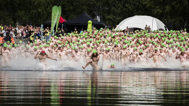 Mass naked swim breaks skinny dipping world record (PHOTOS)