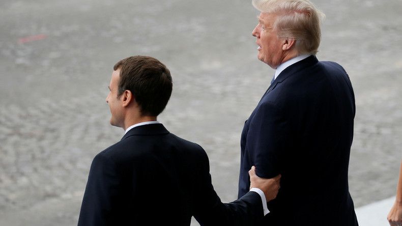Bromance: Trump gushes over Macron as 'great guy' who 'loves holding my hand'