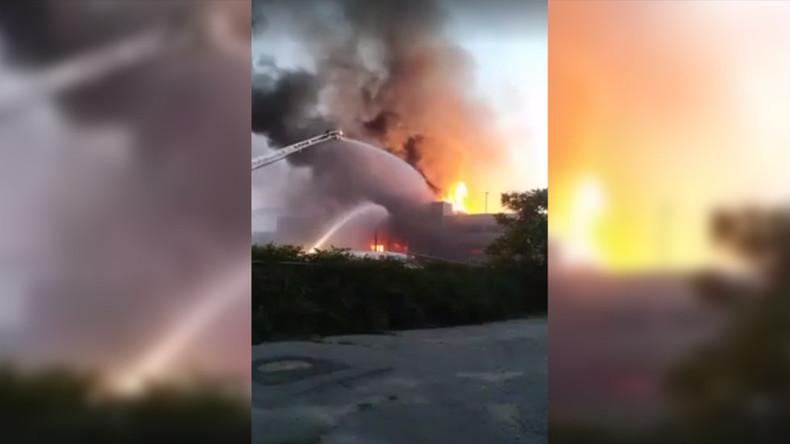 Massive fire ravages Massachusetts construction site (PHOTOS, VIDEOS)