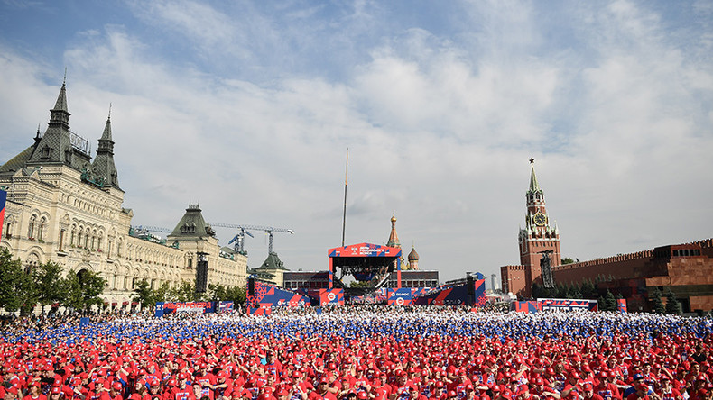 Red Square 'Boxing Day' extravaganza sets new Guinness world record