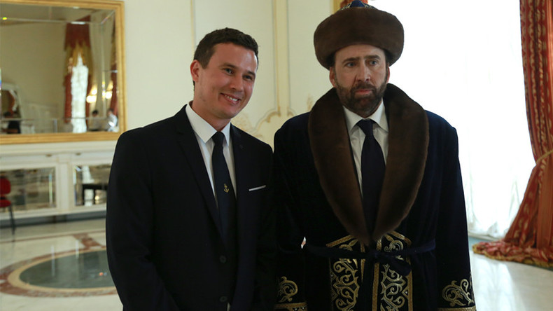 Nicolas Cage sparks meme meltdown after donning traditional Kazakh dress