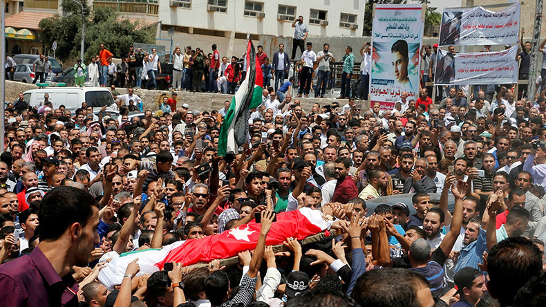 Thousands of Jordanians protest killing of teenager in embassy, chant 'Death to Israel'