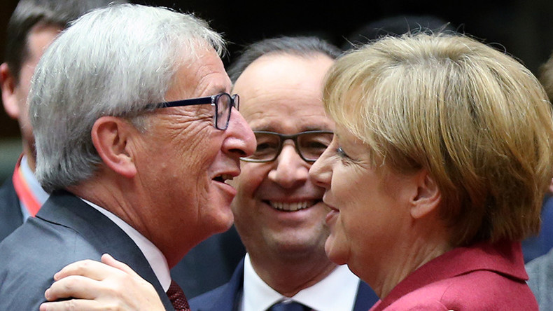 Merkel or my wife? Juncker's mix-up gets laughs at EC press conference (VIDEO)