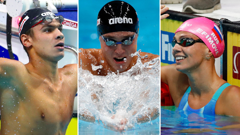 Triple gold: Russian swimmers victorious at FINA Worlds in Budapest