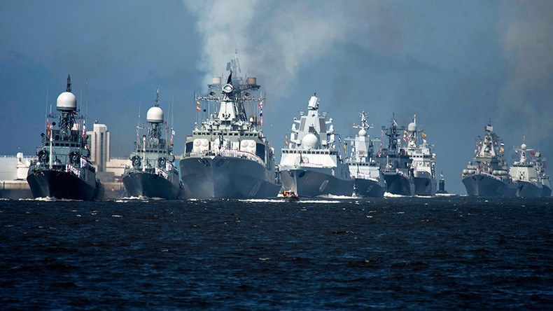 100+ military vessels take part in Russian Navy Day celebrations, incl in Syrian port (PHOTOS)