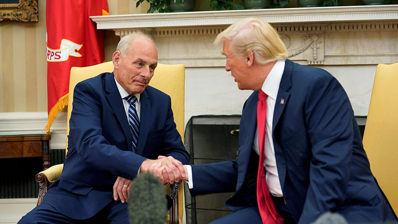 Trump's new White House chief of staff sworn in