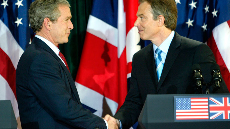 'Blair is war criminal over Iraq, but so is George W. Bush'