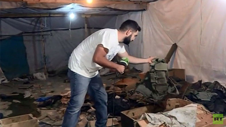 Inside mountain cave HQ of Al-Nusra Front terrorists in Lebanon