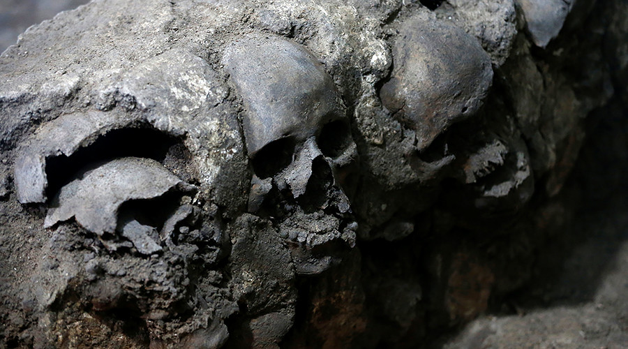 Age of the Aztecs: Ancient tower of skulls found beneath Mexico City (PHOTOS)