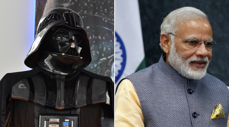 Modi force be with you: Indian PM exits speech to Darth Vader music