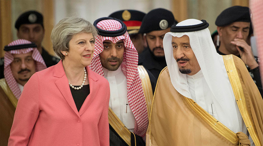 Theresa May 'sitting' on UK terrorism funding report to protect Saudi allies