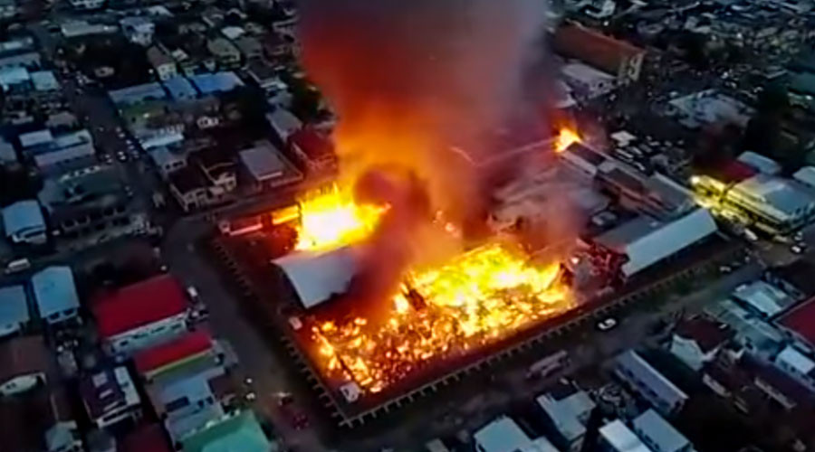 Inmates set fire to Guyana prison, 4 escape, 1 officer killed (PHOTOS, VIDEOS)