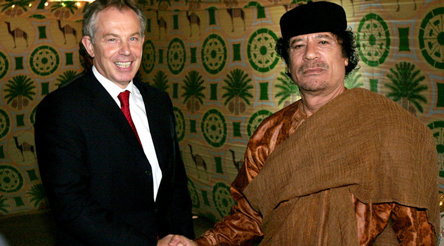 Cozy relationship between Blair govt & Gaddafi regime uncovered in secret files
