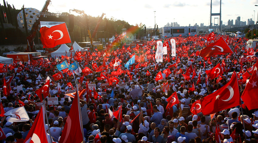 Turkey commemorates 'epic victory' over coup attempt with massive rally (PHOTOS, VIDEOS)