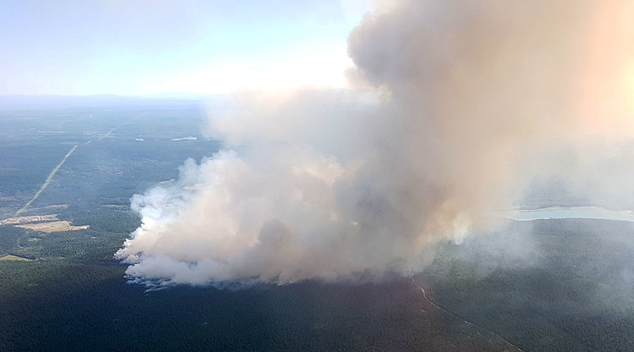 Catastrophic Canada wildfires captured by drone (VIDEOS, PHOTOS)