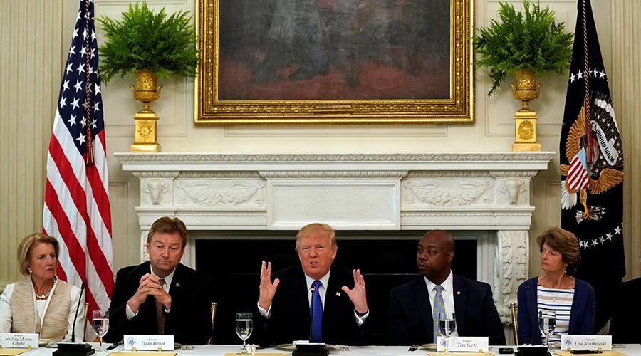 'Don't leave town': Trump tells GOP senators to pass healthcare bill