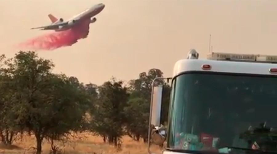 Yosemite under threat as wildfire engulfs northern California (VIDEOS & PHOTOS)