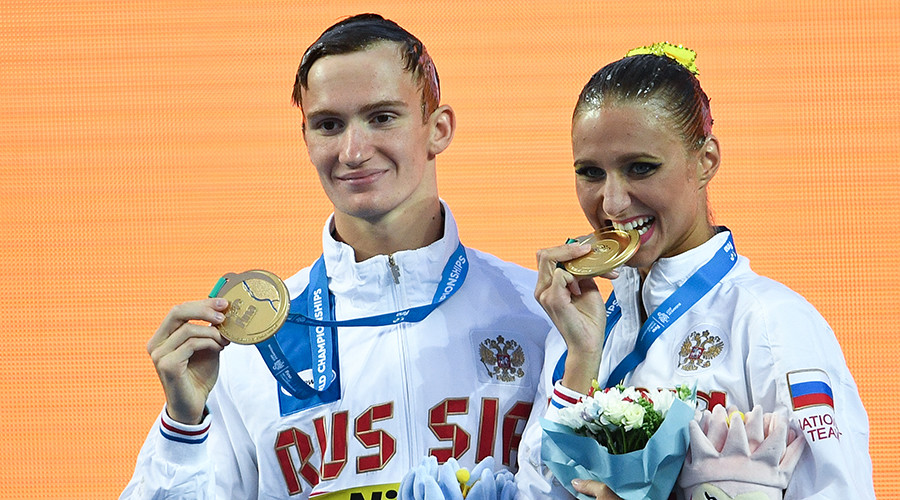 Russian mixed pair add to synchronized swimming gold tally at World Championships