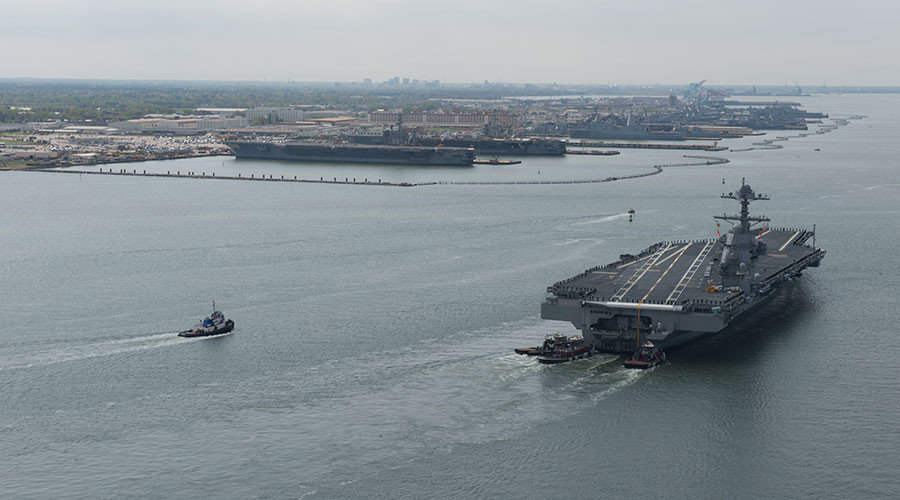 No urinals: New US naval aircraft carrier goes 'gender-neutral'