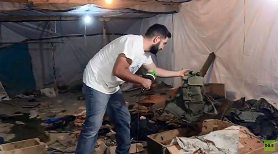 Inside mountain cave HQ of Al-Nusra Front terrorists in Lebanon