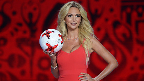 Model and TV hostess Viktoriya Lopyreva during the official draw ceremony of the FIFA Confederations Cup Russia 2017.