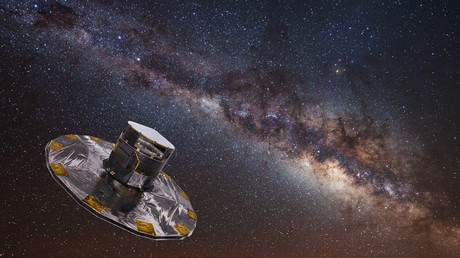 Artist's impression of Gaia mapping the stars of the Milky Way. © ESA / ATG medialab