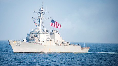 FILE PHOTO: US Navy destroyer USS Stethem transits waters east of the Korean peninsula March 22, 2017 © US NAVY