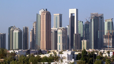 A view shows buildings in Doha, Qatar. © Naseem Zeitoon