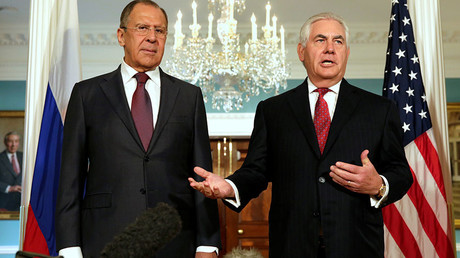 US Secretary of State Rex Tillerson (R) and Russian Foreign Minister Sergey Lavrov © Yuri Gripas