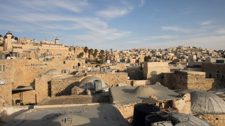 A general view shows the old part of the Palestinian city Hebron © Hazem Bader