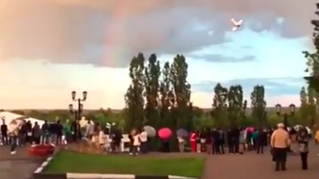 Horrifying footage shows fatal plane crash at Russian university prom air show (VIDEO)