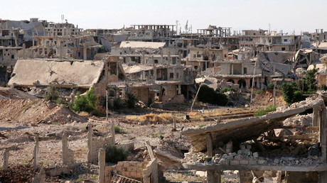 A general view shows damaged buildings in a rebel-held part of the southern city of Deraa, Syria June 22, 2017 © Alaa Al-Faqir