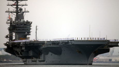 USS Nimitz with Carrier Strike Group 11 © Mike Blake