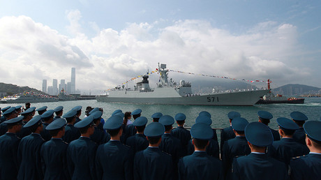 FILE PHOTO: Chinese missile frigate Yuncheng (571) © AFP