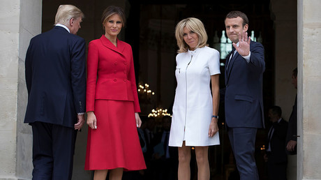 Trump compliments French first lady's figure in awkward moment