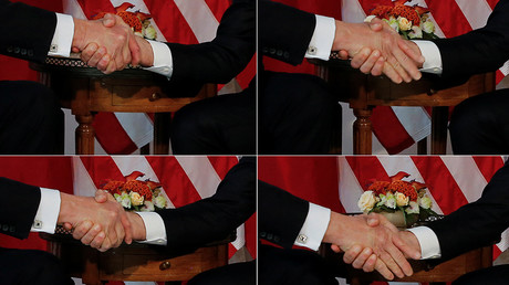 6 of Trump's most cringeworthy handshakes… so far (VIDEOS)